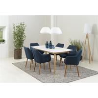 Nagane extending table and Nori (fabric) chairs