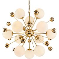 Orius Molecule Glass and Nickel Pendant Lamp