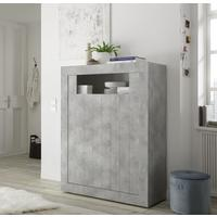 Como Two Door High Sideboard Inc. LED Spotlight  - Grey Finish by Andrew Piggott Contemporary Furniture