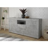 Como Two Door/Two Drawer Sideboard Inc. LED Spotlight - Grey Finish