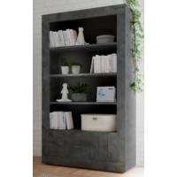 Como Two Door/Four Shelf Bookcase - Anthracite Finish