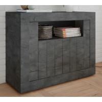 Como Two Door Sideboard - Anthracite Finish