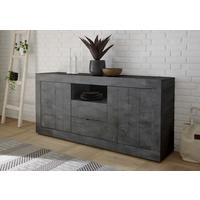 Como Two Door/Two Drawer Sideboard Inc. LED Spotlight - Anthracite Finish by Andrew Piggott Contemporary Furniture