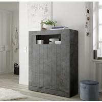 Como Two Door High Sideboard Inc. LED Spotlight - Anthracite Finish by Andrew Piggott Contemporary Furniture