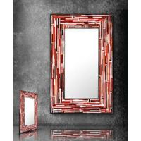 Barbarella Red PIAGGI Modern Glass Mosaic Mirror
