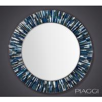 Roulette PIAGGI blue glass mosaic round mirror by Piaggi