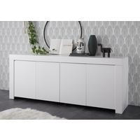 Bergamo Collection Four Door Sideboard - Matt White by Andrew Piggott Contemporary Furniture