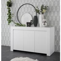 Bergamo Collection Three Door Sideboard - Matt White  by Andrew Piggott Contemporary Furniture