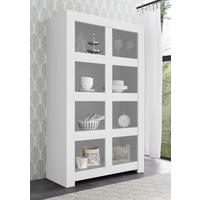 Bergamo Collection Open Bookcase - Matt White  by Andrew Piggott Contemporary Furniture