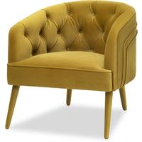 Langham Buttoned Tub Chair in Mustard
