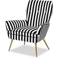 Paris Chair Black & White Velvet by Liang & Eimil