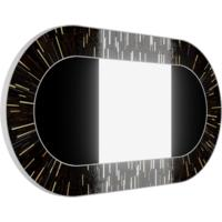 Stadium PIAGGI dark brown glass mosaic mirror