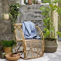 Bloomingville Rattan Lounge Armchair in Natural