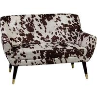 Faux Cowhide Sofa in Brown