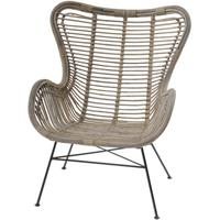 Toba Rattan Wing Back Chair by The Libra Company
