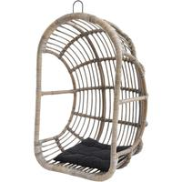 Toba Rattan Egg Chair With Cushion by The Libra Company