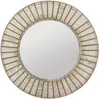 Aurora Antique Silver & Gold Mercury Glass Round Mirror by The Libra Company