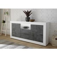 Como Two Door/Two Drawer Sideboard - White Gloss and Anthracite Finish by Andrew Piggott Contemporary Furniture