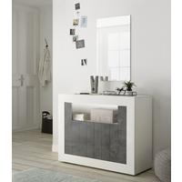 Como Two Door Sideboard Inc. LED Spotlight - White Gloss and Anthracite Finish