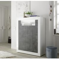 Como Two Door Highboard - White Gloss and Anthracite Finish by Andrew Piggott Contemporary Furniture