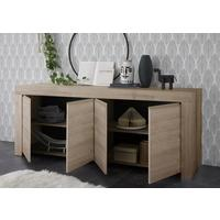 Bergamo Collection Four Door Sideboard -  Kadiz Oak Finish by Andrew Piggott Contemporary Furniture