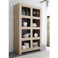 Bergamo Collection Open Bookcase - Kadiz Oak Finish