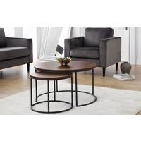 Santos round nesting coffee table