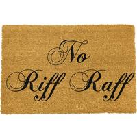 No Riff Raff Doormat by Red Candy