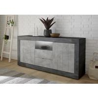 Como Two Door/Two Drawer Sideboard Inc. LED Spotlight - Anthracite and Grey Finish by Andrew Piggott Contemporary Furniture