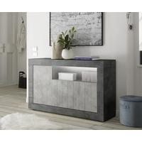 Como Three Door Sideboard Inc. LED Spotlight - Anthracite and Grey Finish by Andrew Piggott Contemporary Furniture