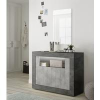 Como Two Door Sideboard Inc. LED Spotlight - Anthracite and Grey Finish by Andrew Piggott Contemporary Furniture