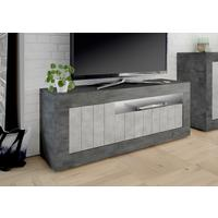 Como Three Door TV Unit - Anthracite and Grey Finish