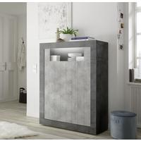Como Two Door Highboard - Anthracite and Grey Finish by Andrew Piggott Contemporary Furniture