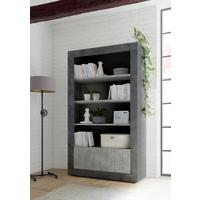 Como Two Door/Four Shelf Bookcase - Anthracite and Grey Finish by Andrew Piggott Contemporary Furniture
