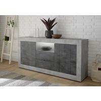 Como Two Door/Two Drawer Sideboard  - Grey and Anthracite Finish