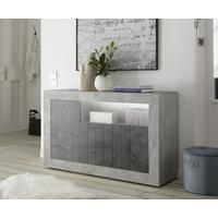 Como Three Door Sideboard Inc. LED Spotlight - Grey and Anthracite Finish by Andrew Piggott Contemporary Furniture