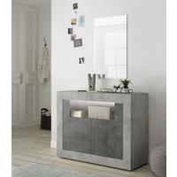 Como Two Door Sideboard Inc. LED Spotlight - Grey and Anthracite Finish by Andrew Piggott Contemporary Furniture