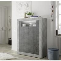 Como Two Door Highboard - Grey and Anthracite Finish