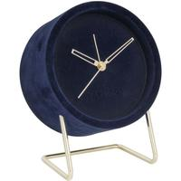 Karlsson Lush Velvet Alarm Clock - Blue by Red Candy