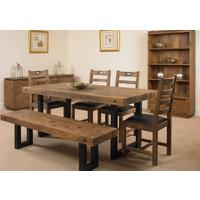 New York dining table with 4 chairs and bench by Icona Furniture