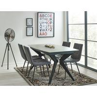 Soho extending table with 4 Dalston chairs by Icona Furniture
