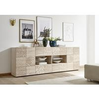 Messina Two Door/Four Drawer Sideboard - Samoa Oak with Decorative Stencil