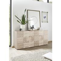 Messina Three Door Sideboard - Samoa Oak with Decorative Stencil