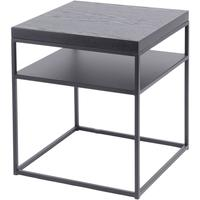 Chancery Black Ash Two Tier Side Table by The Libra Company