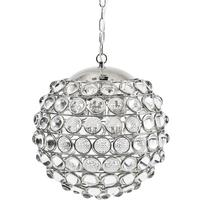 Oakley Sphere Nickel Crystal Chandelier 6 Bulb