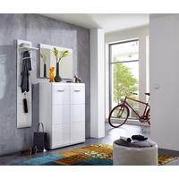 Adelle Two Door Hallway Shoe Storage - White by Andrew Piggott Contemporary Furniture