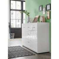 Adelle  Sideboard  Two Doors/Three Drawers - White by Andrew Piggott Contemporary Furniture