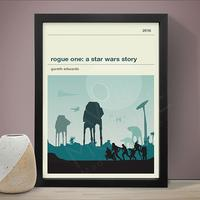 Star Wars Rogue One Art Print by Red Candy