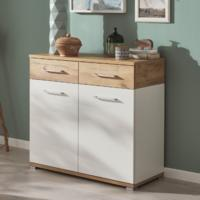 Tomas Small Sideboard - White and Navarra Oak Finish by Andrew Piggott Contemporary Furniture