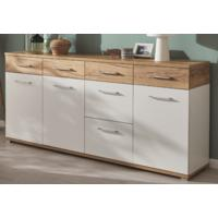 Tomas Large Sideboard - White and Navarra Oak Finish